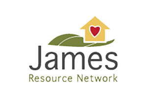 The official logo for james resource network