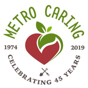 The official logo for metro caring